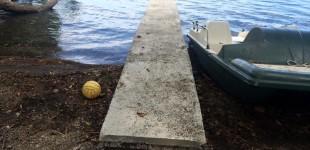 Lago di Bracciano: sequestrato un manufatto abusivo in cemento