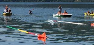"""Ronciglione, Casani circumnaviga lago di Vico. Sangiorgi: """"Esempio di sportività e volontà per tutti i giovani"""""""