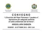 """Anguillara: il 30 Ottobre il Convegno """"L'Enciclica del Papa Francesco"""""""