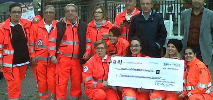 Campagnano: il Comune consegna le entrate del 5X1000 all'associazione 'Pubblica Assistenza Campagnano Soccorso'