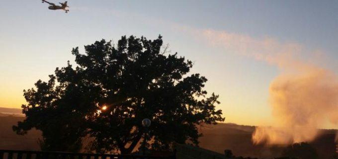Incendio Lago Martignano, ancora ignote le cause