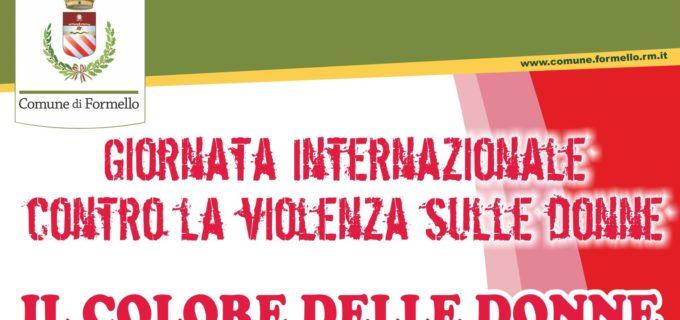 """Formello, il 26 novembre la manifestazione """"Il colore delle donne"""""""