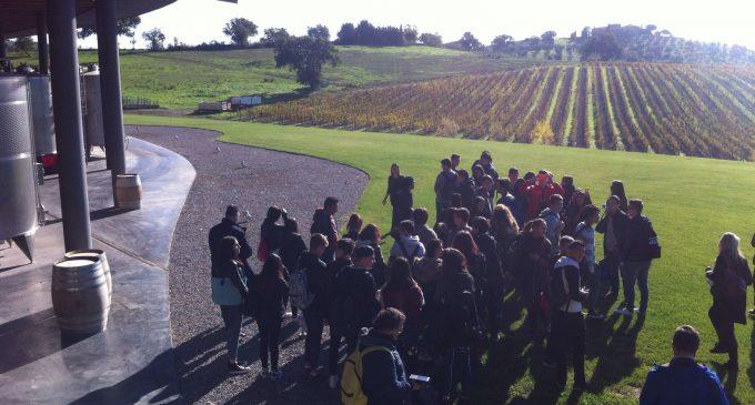 Gli studenti dell'Alberghiero di Ladispoli in visita alla Tenuta Ammiraglia dell'Azienda Frescobaldi