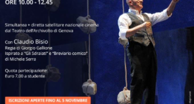 """Iperconnessi: gli studenti dell'Alberghiero allo show di Claudio Bisio """"Father and Son"""""""