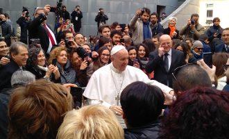 La visita di Papa Francesco agli studenti di Roma Tre