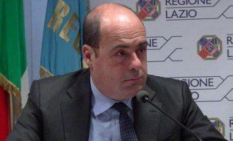 Il Presidente della Regione Lazio Zingaretti ad Amatrice ed Accumoli