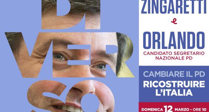 Domenica 12 marzo Zingaretti e Orlando al Teatro Eliseo