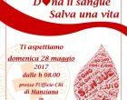 Domenica 28 maggio donazione di sangue a Manziana