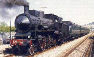 Un treno d'epoca a vapore per il 40° anno del Museo Storico dell'Aeronautica Militare di Vigna di Valle