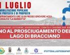 1 luglio di protesta e di proposta: no al prosciugamento del lago di Bracciano