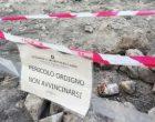 Ordigni bellici al Lago di Martignano, chiuso arenile