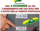 Manziana: dal 6 Dicembre al via l'inserimento dei tag utili all'introduzione della tariffa puntuale