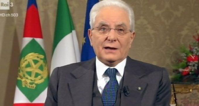 Pubblichiamo il discorso di fine anno del Presidente della Repubblica Sergio Mattarella