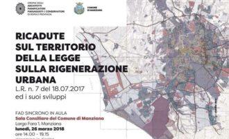 Manziana. Incontro sulle ricadute della Legge sulla rigenerazione urbana, lunedì 26 marzo