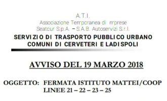 Cerveteri, Scuola Enrico Mattei: da domani il Trasporto Pubblico Locale farà fermata davanti i cancelli dell'Istituto