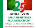 """""""Dalla Resistenza alla Democrazia"""": colloquio con il senatore Flamigni in ricordo del 25 aprile"""