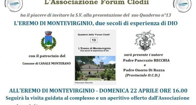 """Canale Monterano, padre Pancrazio Recchia presenta """"L'Eremo di Montevirginio, due secoli di esperienza di Dio"""""""
