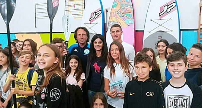 Cerveteri, 'I giovani incontrano i Campioni': Tommaso Pampinella tra i ragazzi della Scuola Salvo D'Acquisto