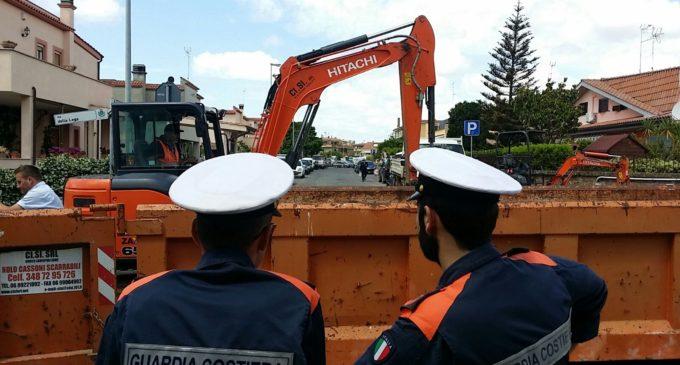 Cerveteri: operazioni dell'Amministrazione in coordinamento con la Guardia Costiera contro gli scarichi abusivi.