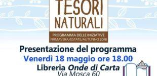 """""""Tesori Naturali"""", proseguono gli appuntamenti: venerdì 18 alla libreria 'Onde di Carta' di Trevignano"""