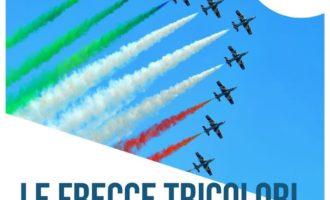25 Maggio, le Frecce Tricolori voleano sopra il lago di Bracciano