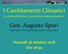 Civitavecchia. Alla Chiesa Battista Venerdì 26 ottobre alle ore 18:30 si discute dei cambiamenti climatici col Meteorologo Gen. Augusto Spuri