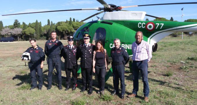 Cerveteri, sopralluoghi e pattugliamenti in elicottero questa mattina da parte dei Carabinieri e della Soprintendenza