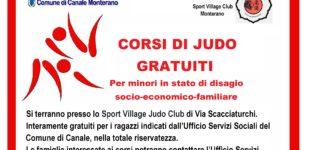 Canale Monterano: collaborazione Comune – Sport Village Judo Club per corsi di judo gratuiti per ragazzi con disagio socio-economico-familiare