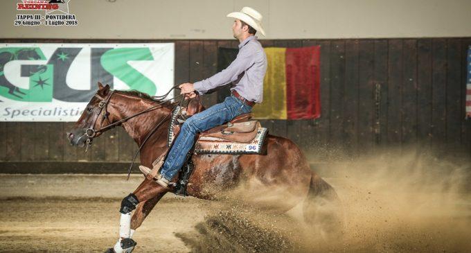 Flavio Tarquini, atleta e addestratore di cavalli da Reining