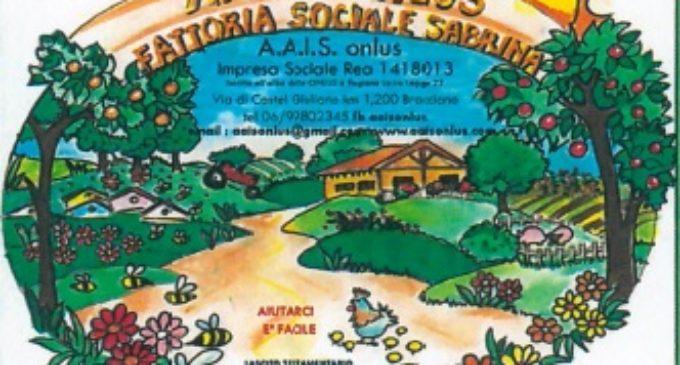 """A.A.I.S. Onlus impresa sociale """"Fattoria Sabrina Casaccia"""" Venerdì 19, dalle ore 10,00 invita tutti per """"rilanciare i prodotti del nostro territorio"""