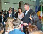 Gli allievi della Melone incontrano il presidente della Romania
