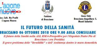 IL FUTURO DELLA SANITÀ  BRACCIANO 06 OTTOBRE 2018 ORE 9.00 AULA CONSILIARE