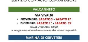 Valcanneto e Cerenova, auto compattatori per sfalci verdi e potature