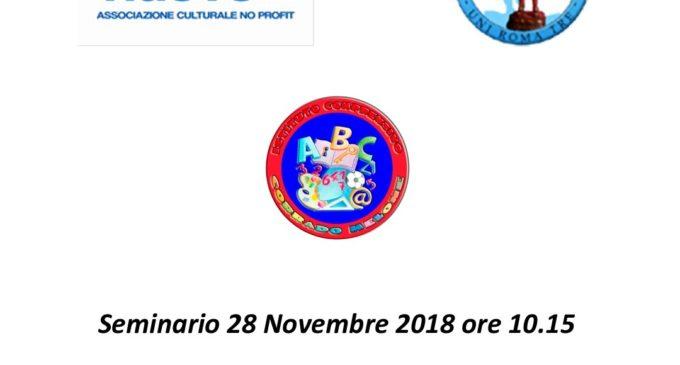 Il 28 Novembre all'istituto Corrado Melone di Ladispoli, con l'Associazione L'Agone Nuovo, seminario sulla violenza di genere
