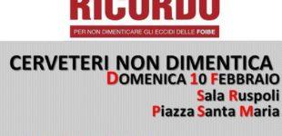 Cerveteri, per non dimenticare: a Sala Ruspoli si commemorano i Martiri delle Foibe