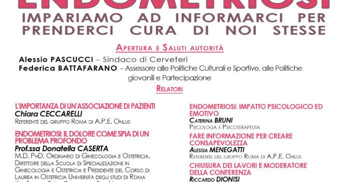 Cerveteri, al Granarone il convegno sull'Endometriosi promosso da A.P.E. Onlus