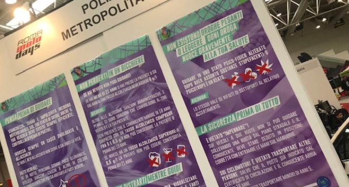 """CITTA' METROPOLITANA DI ROMA CAPITALE: MANUNTA """"SUCCESSO PER LA POLIZIA METROPOLITANA AL """"ROMA MOTODAYS 2019"""". PREVENZIONE E CONTROLLO DEL TERRITORIO PROVINCIALE""""."""