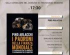"""Trevignano Romano, Pino Arlacchi presenta: """"I padroni della finanza mondiale""""."""