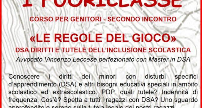 """Domani 24 Marzo a Canale Monterano """"i Fuoriclasse"""" corso per genitori – secondo incontro"""
