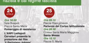 Cerveteri, Festa della Liberazione: ora e sempre resistenza!