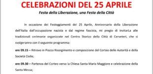 Programma celebrazioni del 25 Aprile a Cerveteri