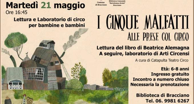 Bracciano: Biblioteca Bartolomea Orsini, Laboratorio di lettura e Circo – 21 maggio