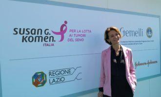 la Regione Lazio partecipa con uno stand di operatori delle Asl di Roma all'edizione di Race for the Cure