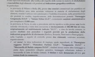 Riceviamo e pubblichiamo Comunicato stampa del Comando Carabinieriper la tutela agroalimentare