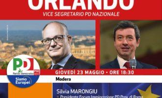 PD Ladispoli :giovedì 23 maggio, ore 18,30, Roberto Gualtieri e Andrea Orlando a Ladispoli