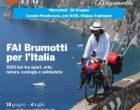 Brumotti a Monterano con la bandiera del FAI