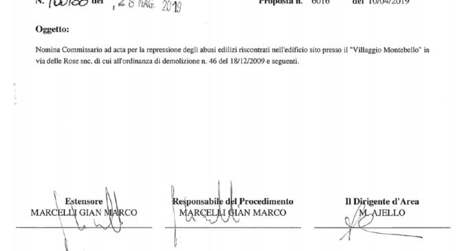 M5S Bracciano: Varata la nomina del Commissario ad acta per Montebello di Bracciano.
