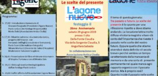 L'Agone Nuovo festeggia il suo 26mo anniversario Sabato 29 Giugno presso il sito della Fonte Acqua Claudia