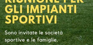 Bracciano: 17 giugno – Riunione per gli impianti sportivi