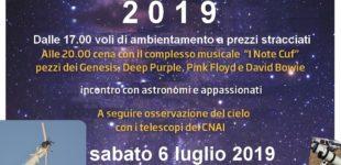 """Anguillara: """"Un volo tra le stelle""""6 luglio 2019 dalle 17 alle 24"""